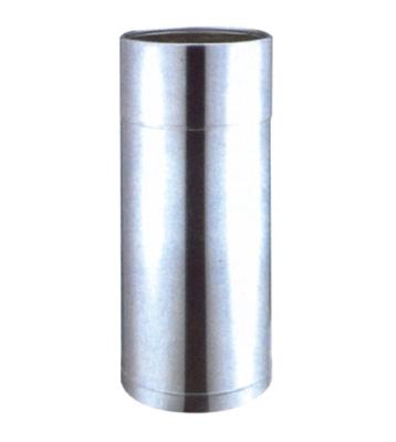 加厚立式圆柱形单桶不锈钢垃圾桶