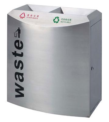 机场环卫不锈钢垃圾桶