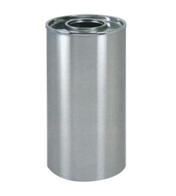 美式商场不锈钢圆形垃圾桶