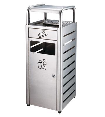 不锈钢机场分类垃圾桶