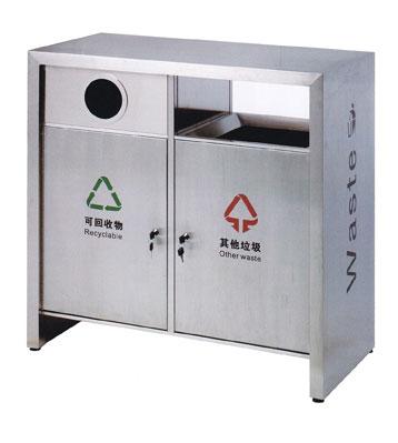室外分类双筒环卫垃圾桶