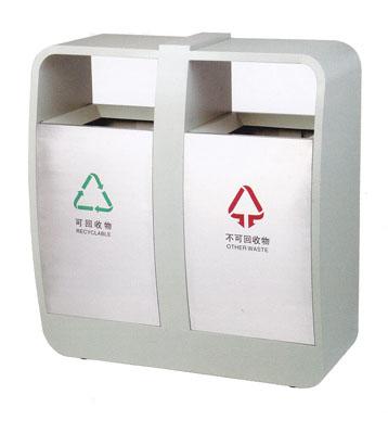 不锈钢分类环保垃圾桶