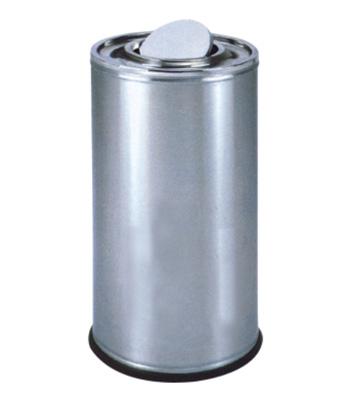 美式商场不锈钢翻盖垃圾桶