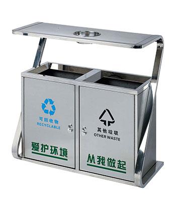 不锈钢分类环卫垃圾桶