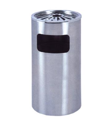 常用商场菊花格立式不锈钢垃圾桶