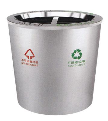 不锈钢斜口分类垃圾桶