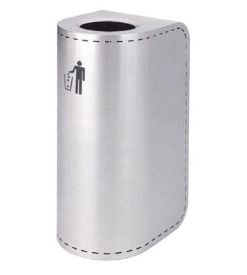 不锈钢圆弧形垃圾桶