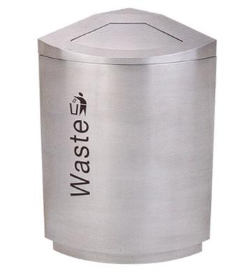 不锈钢商场单桶垃圾桶