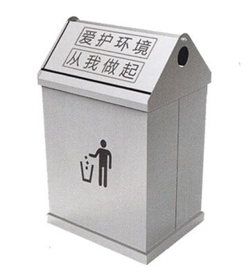 不锈钢户外屋形垃圾桶