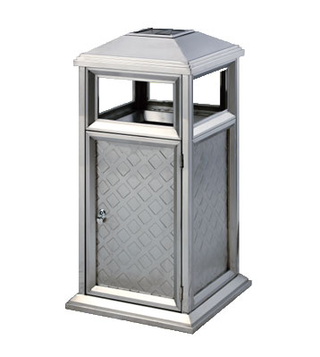 不锈钢户外岗亭式垃圾桶