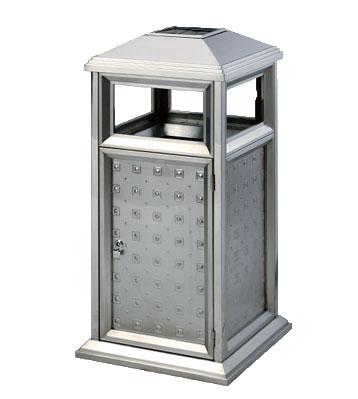 不锈钢户外古典式垃圾桶