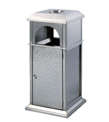 不锈钢户外宝塔式垃圾桶