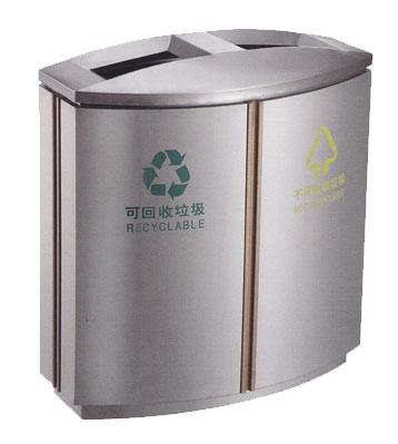 不锈钢商业分类垃圾桶