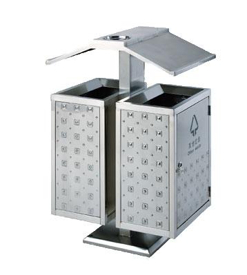 不锈钢户外立式分类垃圾桶