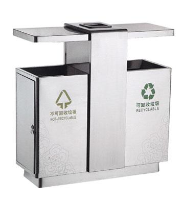 不锈钢户外社区分类垃圾桶