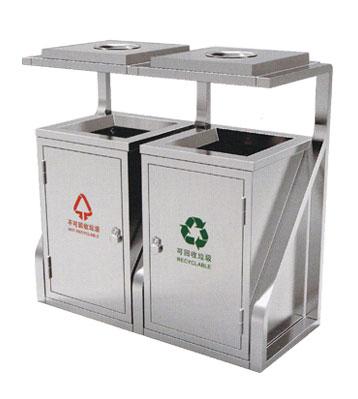 不锈钢户外物业分类垃圾桶