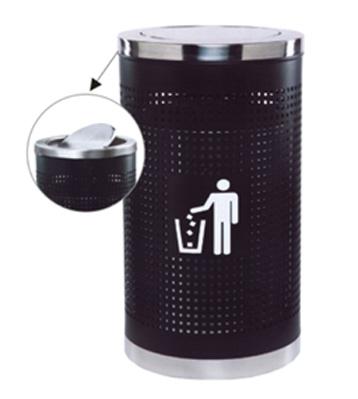 烤漆孔身翻盖垃圾桶