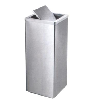 方形不锈钢翻盖果皮箱