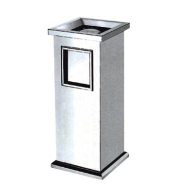 不锈钢四角座地果皮箱