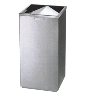 不锈钢方形翻盖烟灰桶