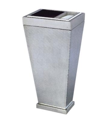 不锈钢方锥形座地烟灰桶
