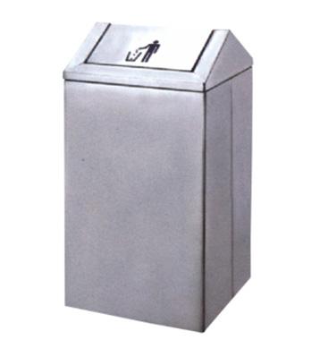 商场不锈钢摇盖垃圾桶