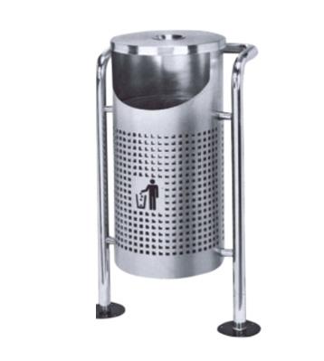 户外单桶圆形垃圾桶