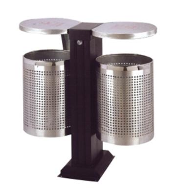 户外不锈钢分类环保垃圾桶