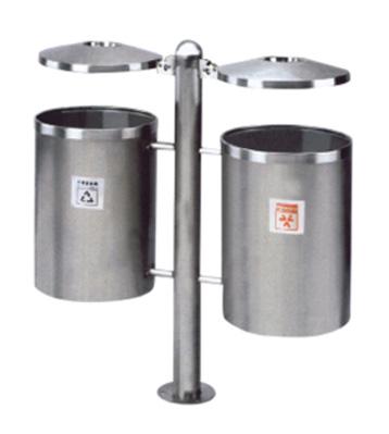 户外不锈钢分类垃圾桶