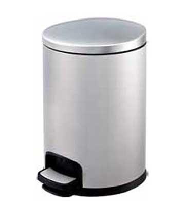 圆形脚踏式不锈钢垃圾桶