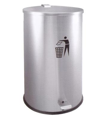 室内单桶脚踏式医用不锈钢垃圾桶