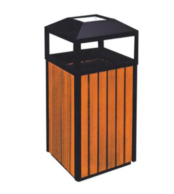 小区钢木垃圾桶