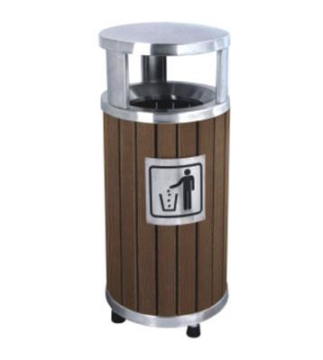 塑木钢木垃圾桶