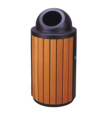 钢木园林垃圾桶