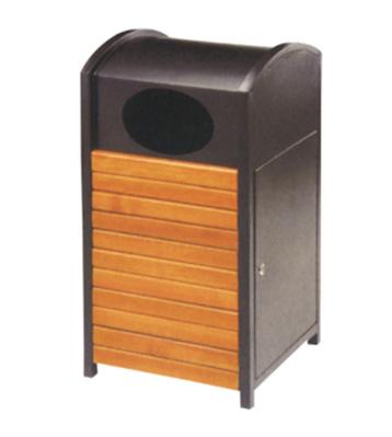 密闭式钢木垃圾桶
