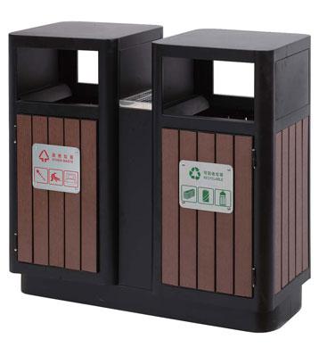 环保塑木分类垃圾桶