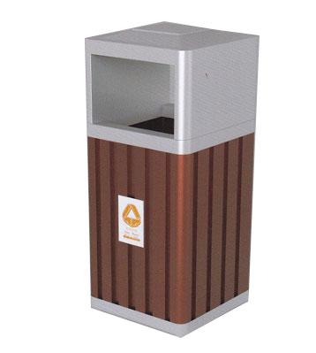 车站钢木垃圾桶