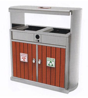 机场分类环保钢木垃圾桶