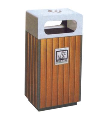市政钢木垃圾桶