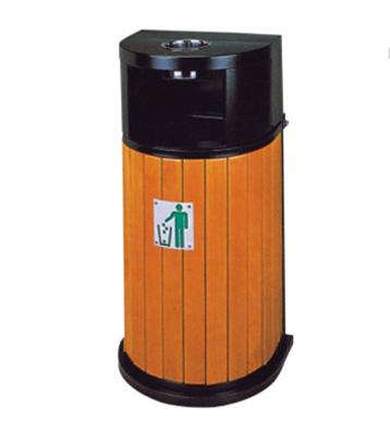半圆钢木垃圾桶