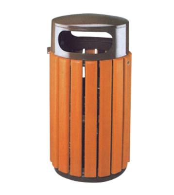 室外钢木垃圾桶