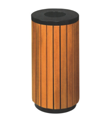 楼道钢木垃圾桶