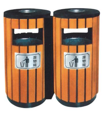 分类钢木垃圾桶