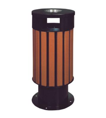 仿木烤漆园林木制垃圾桶
