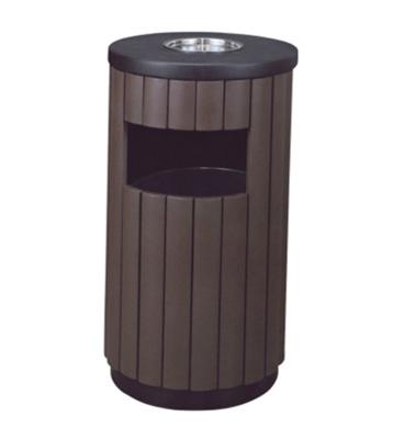 环保烤漆钢木垃圾桶