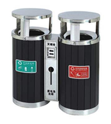 烤漆分类环保钢木垃圾桶