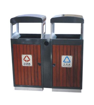 抬盖分类钢木垃圾桶
