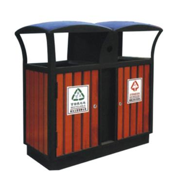 分类环保木制垃圾桶