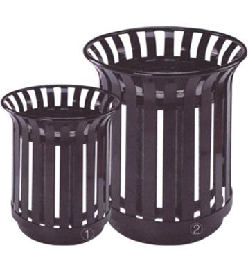 校园花篮式钢制垃圾桶