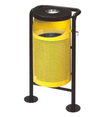 户外钢板冲孔垃圾桶